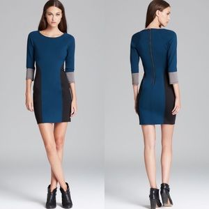 Tracy Reese Ponte Knit Colorblock Sheath Dress 2